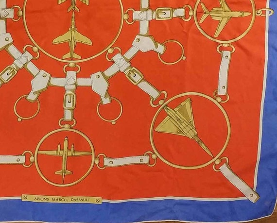 Vintage French Scarf, 1980s Silk Scarf, Vintage A… - image 5
