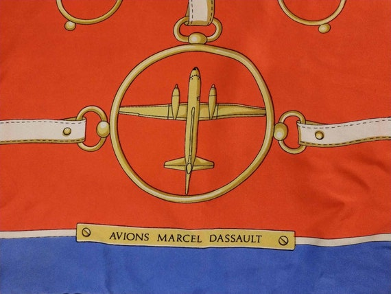 Vintage French Scarf, 1980s Silk Scarf, Vintage A… - image 3