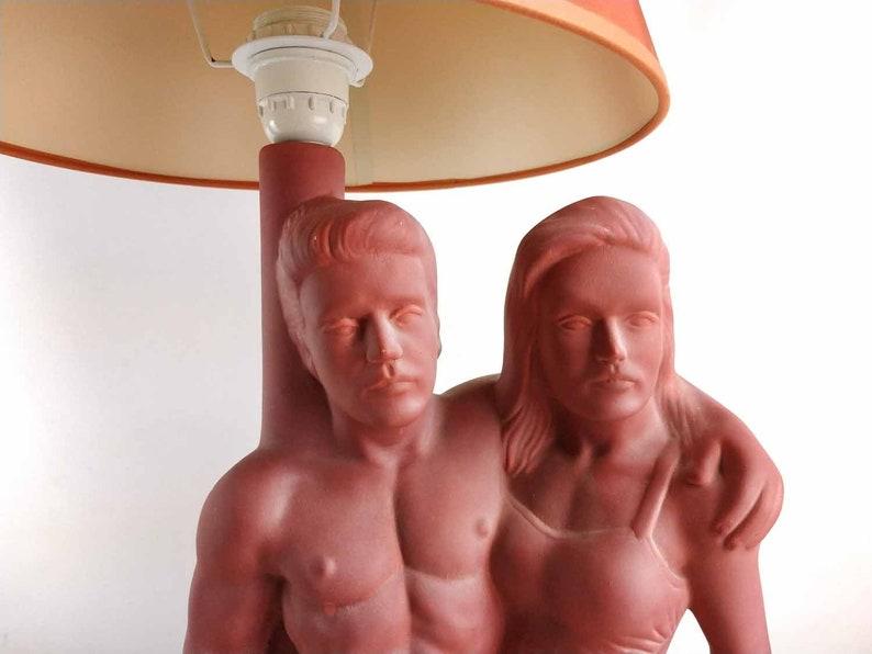 Vintage Lamp Shade,1980 Lamp Large Vintage Table Lamp Bedroom Lamp Vintage Ceramic Lamp Vintage Lighting Vintage Home Decor 1980s Lamp