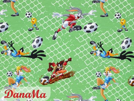 18 Euro M Jersey Looney Tunes Jersey Stoff Fussball Stoff Meterware