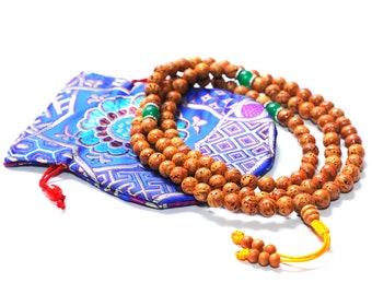 Best Quality, Bodhi Seed Mala, Designed Mala, 108 + 3 Spacer Beads, Tibetan Mala, Buddhist Mala;