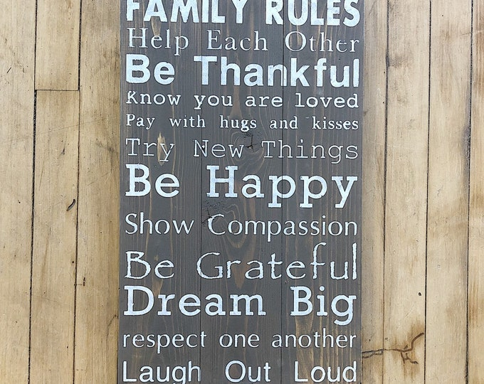 Rustic Home Family Rules