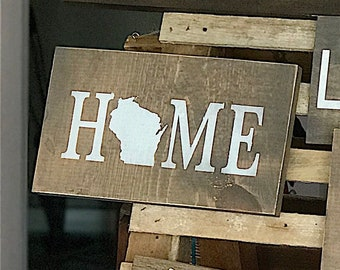 Custom Home State Sign