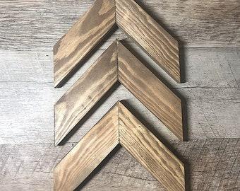 Wooden Chevron Arrows - Set of 3