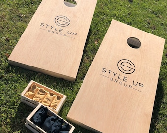 Custom Full Size Cornhole with Bags Included!