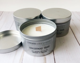 8oz Christmas Tree - Soy Woodwick Candle