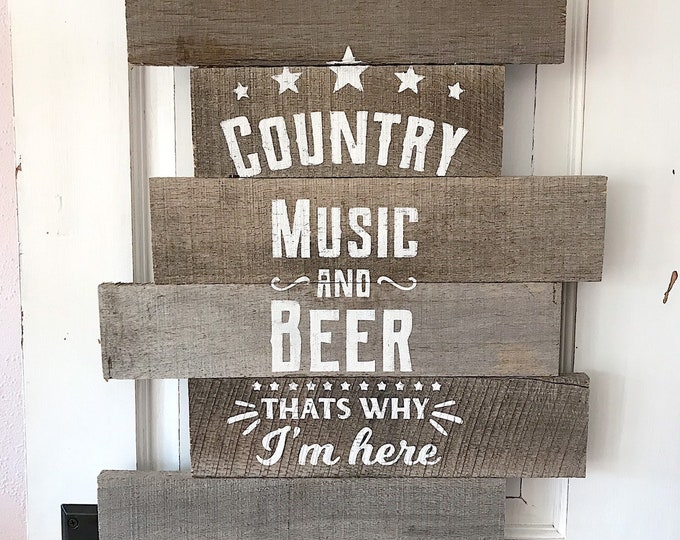 Country wooden pallet sign