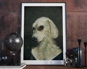 """Poster: """"Dog Renaissance"""" A3 Hundemotiv Hund"""