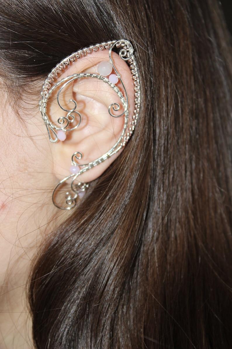 Elven ear cuffs Elf Ear Cuff Wraps Pair or Single Bridal Ear Cuff Fairytale Irish Wedding  bridal ear cuff elf ear cuffs Costume Elven Ears