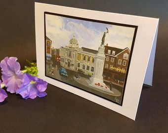 Carnegie Library, Luton - Greetings Card - The Luton I Remember series