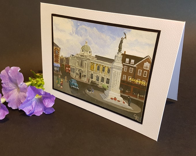 Featured listing image: Carnegie Library, Luton - Greetings Card - The Luton I Remember series