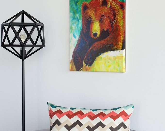 Featured listing image: Grizzly - an original painting by Gary Pursey-Nash
