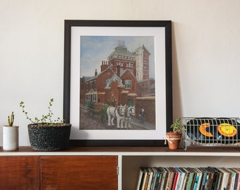 The Phoenix Brewery, Luton -  Art Print (and optional mount)