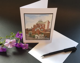 The Phoenix Brewery, Luton - Greetings Card - The Luton I Remember series