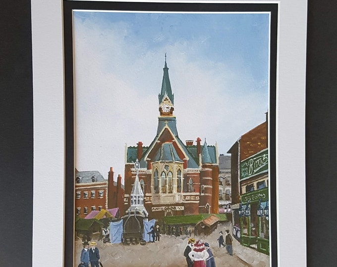 Luton Corn Exchange & Market Hill Art Print
