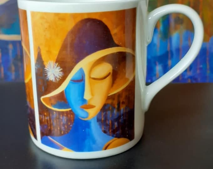 Featured listing image: Balmoral Bone China Mug - Joanna (Luton Hat Girl series)