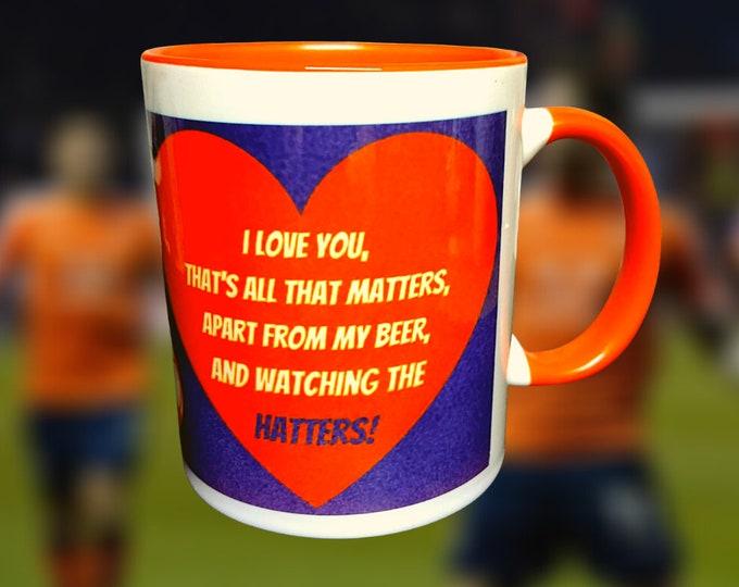 Hatters/Luton Town Valentines Mug