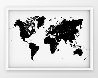 Modern map poster   Etsy on