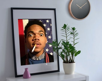 Chance The Rapper Poster Print 3 American Flag Hip Hop Coloring Book Acid Rap Music