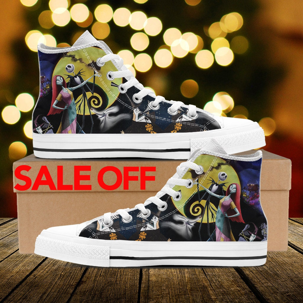 Jack and Sally Nightmare Before Christmas Converse Shoes Shoes, Jack ...