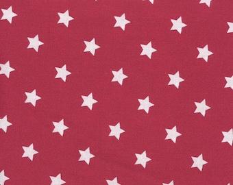 Bedruckt Sterne Baumwoll Jersey Stoff weinrot 15.00 EUR//Meter hellgrau