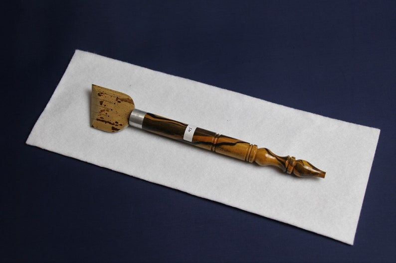 41-45 mm Single extra wide spotted bamboo qalam pens for Arabic calligraphy
