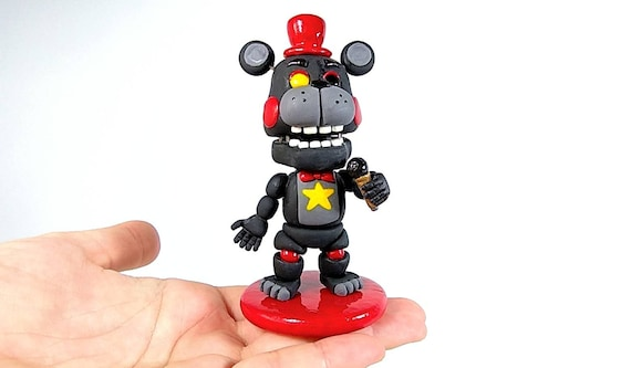 FNAF 6, Lefty  Handmade with polymer clay  Decoration, collector - Fnaf  figures - Present, Birthday