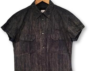 Dark blue - grey short sleeve shirt  summer shirt   camicia nera   grunge  style shirt   rock style shirt  Hemd   Overhemd Chemise   Camisa 85b4b913c91