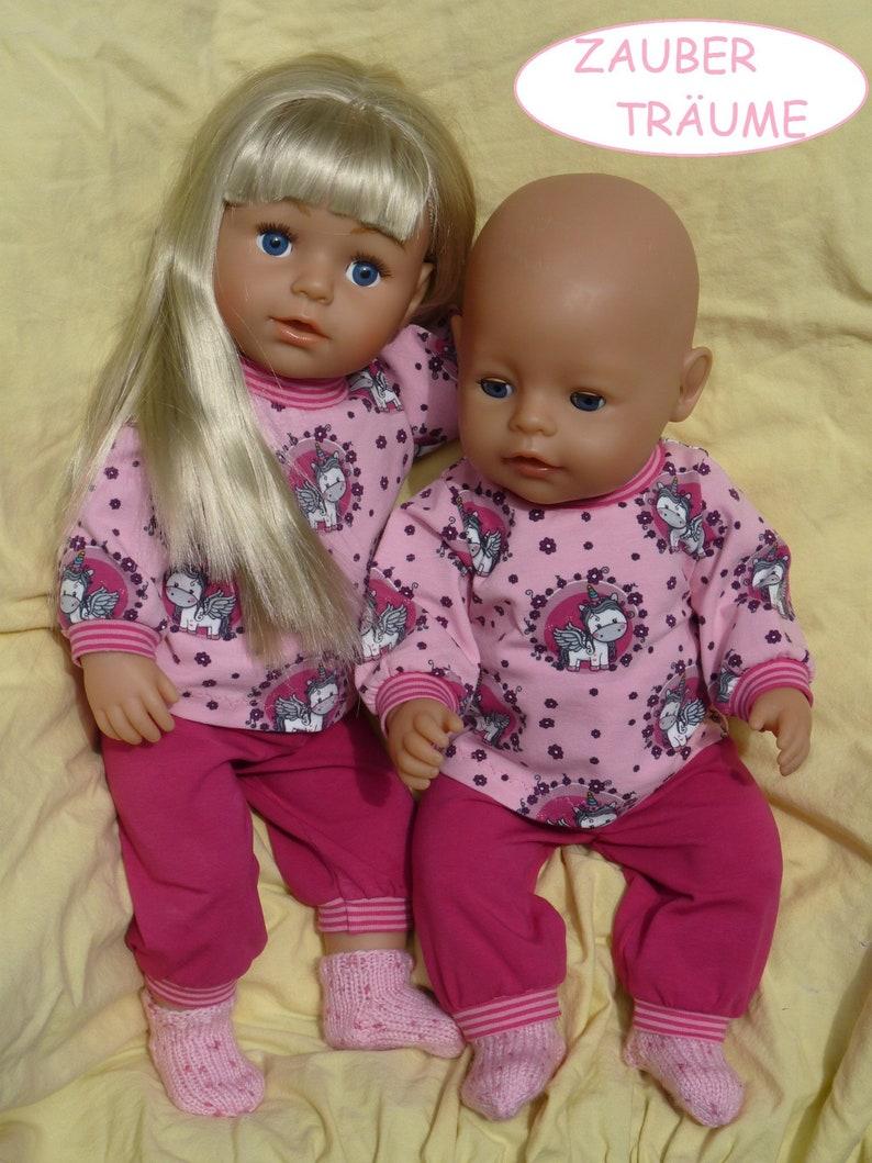 Puppenkleidung für Baby Born 43cm 2Teiler Shirt mit Hose Babypuppen & Zubehör