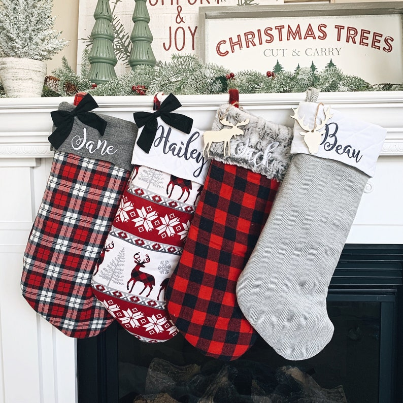 Farmhouse Christmas Stockings Personalized Christmas image 0
