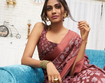b10931289a New Free Shipping Party Soft Silk Saree Traditional Wedding Bridal Casual Wear  Sari With Blouse Piece
