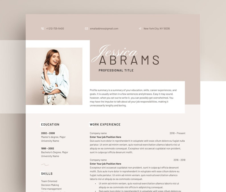Resume Template Word 2020 Professional CV template with | Etsy