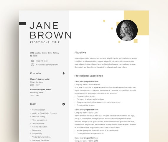 Free Cv Template Curriculum Vitae Template And Cv Example 7