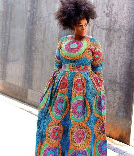 African maxi dress/African ball gown/plus size dress/African women  dress/African print dress/2019 style