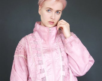 0b9c2d312 Pink shell jacket | Etsy