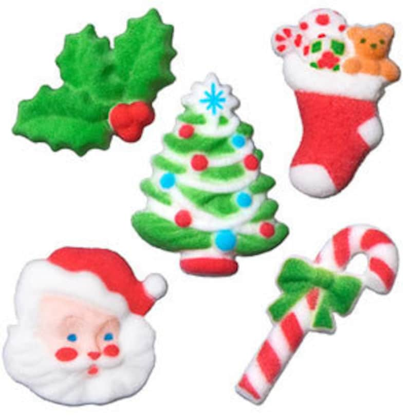 Traditional Christmas Edible Christmas Decorations Edible X Etsy