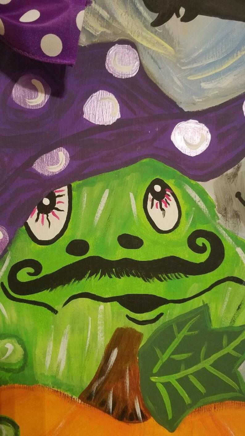 Door Hanger Witch Pumpkin Frog Fall Whimsical Stack Halloween