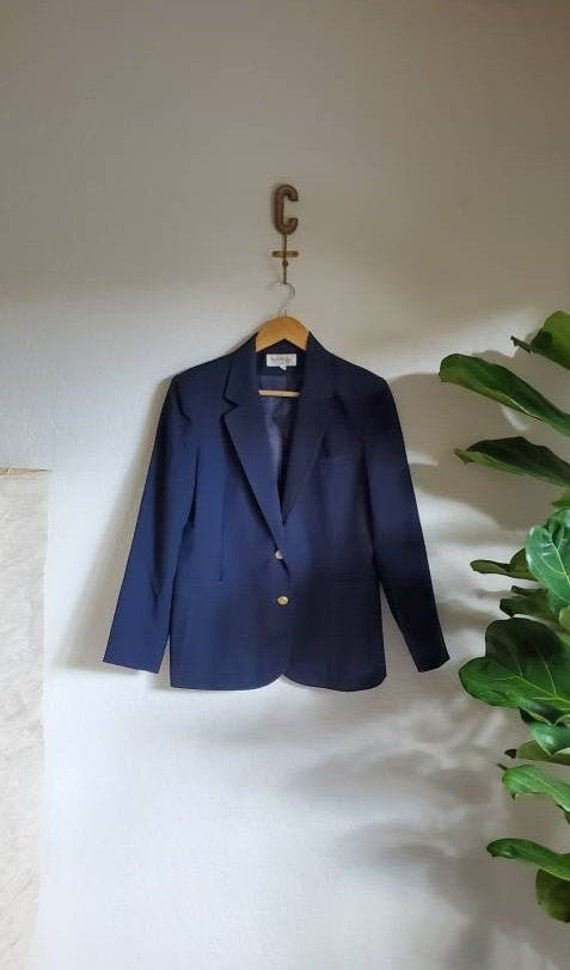Vintage 1980s 1990s Official Academy Award Navy Ca