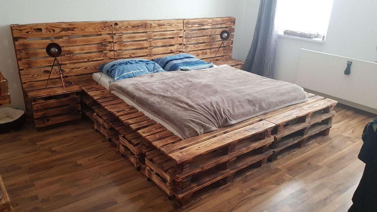 einzigartiges Paletten-Bett | Etsy
