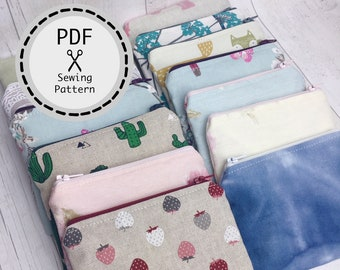 Coin Purse PDF sewing pattern, instant download, perfect for beginners.