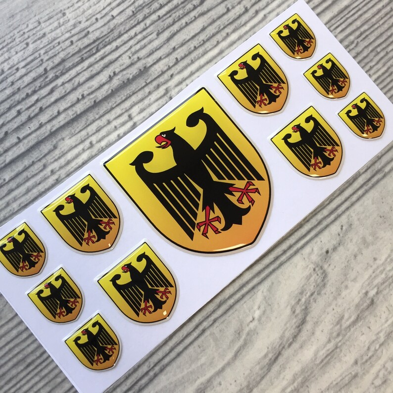 Germany German coat of arms domed emblem decal stickers