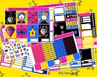 Weekly View Kit VK104 Weekly sticker kit Planner Kit Rise and Shine Erin Condren Sticker Kit Happy Planner