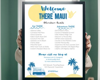Airbnb Welcome Poster, VRBO Poster, Airbnb Host, Vacation Rental Sign, Activity Poster, Adventures, Squaw Valley, Lake Tahoe, Carmel
