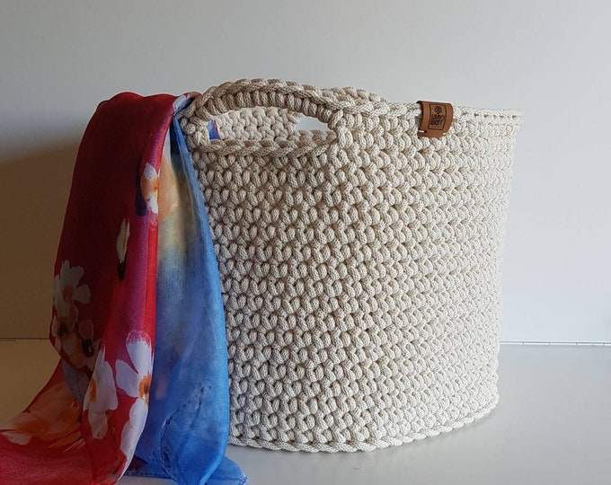 Large storage basket / Storage basket / Crochet basket / Rope basket / Toys basket / Home decor / Kids room storage basket