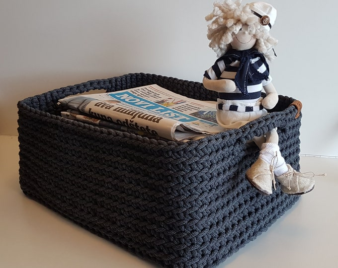 Rectangular basket / Storage basket / Newspaper basket / Folder Basket / Made in Croatia