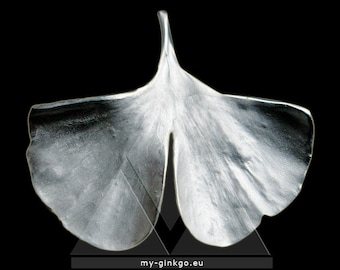 Ginkgo Necklace 925 Silver Imprint of Real Sheet XS21