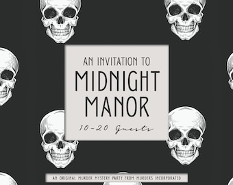10-20 Characters - An Invitation to Midnight Manor - Murder Mystery Party - PDF Version