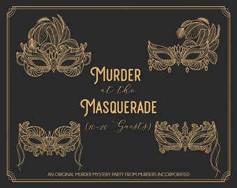 10-20 Characters Murder at the Masquerade - PDF Version