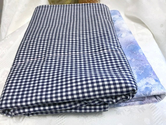 Dish draining mat, Kitchen drying mat, Camper drying towel in check  farmhouse or modern modeled blue, Fabric dish drainer