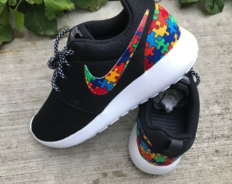 best website 49ff4 546c3 Autism Awareness Custom Nike Roshe One